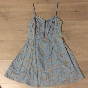 Forever 21 Denim Floral Dress